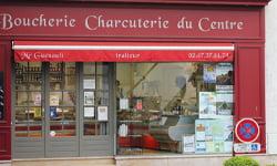 Vitrine boucherie - charcuterie du centre à Fondettes
